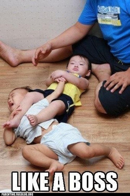 Babies Like a Boss wrestling - 6184497152