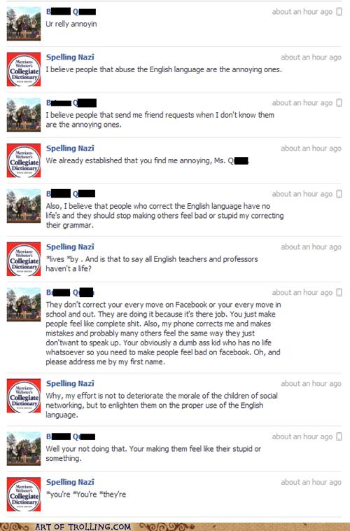 facebook,grammar,spelling,truancy story