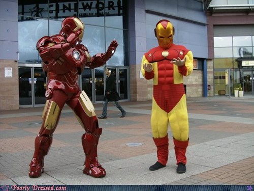 avengers cosplay costume g rated Hall of Fame iron man poorly dressed - 6184544768