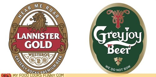 beer clever design fictional Game of Thrones labels - 6184559872
