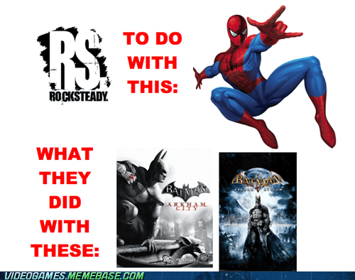 batman good games rock steady Spider-Man superheroes the feels