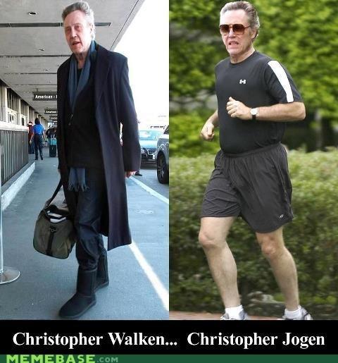 jogging puns christopher walken walk - 6184612352
