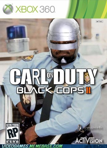 black cops II box art carl on duty crossover meme robocop - 6184784896