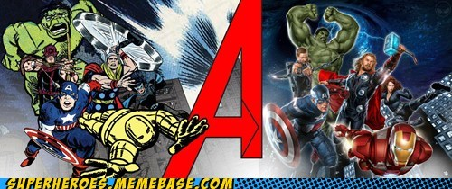 avengers Awesome Art past present - 6184798720