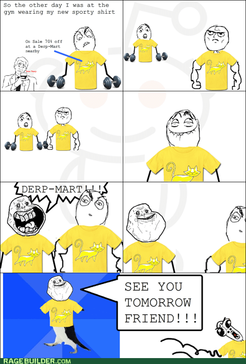 forever alone gym Rage Comics shirt socially awkward penguin - 6184812544