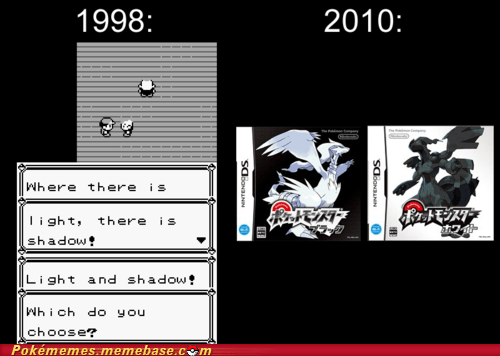black and white,first gen,foreshadowing,gameplay,light and dark