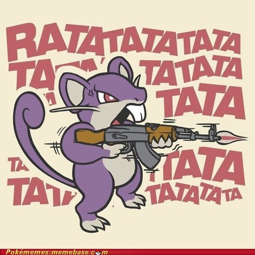 ak 47 art funnies rattata sound the internets - 6184891392