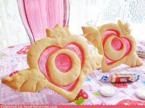 candy cookies crown heart sailor moon wings