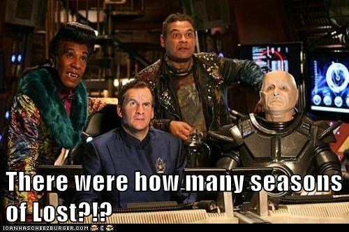 arnold rimmer,chris barrie,craig charles,danny john-jules,dave lister,how many,kryten,red dwarf,robert llewellyn,seasons,surprise,the cat