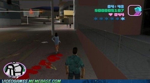 Blood,gameplay,Grand Theft Auto,period,vice city