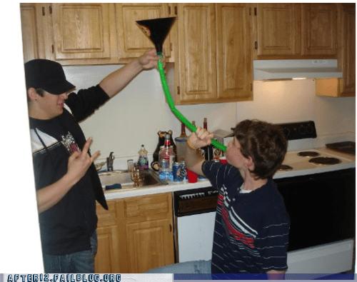 beer bong parenting - 6184936704