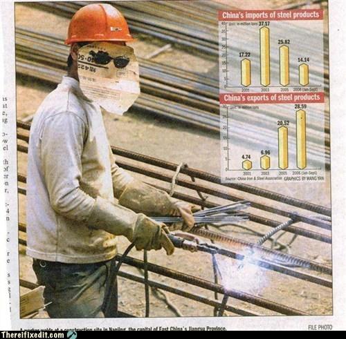 mask,paper mask,steel,welder,welding
