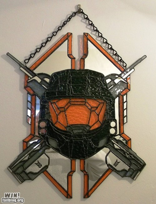 art,halo,legendary,nerdgasm,stained glass
