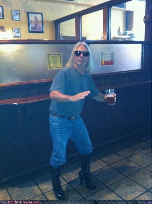 bar boots dad dad humor heels high heels - 6185033472