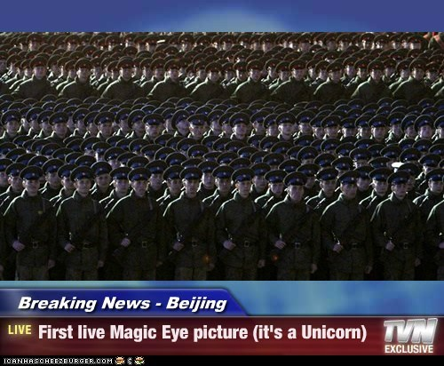 China Magic Eye political pictures soldiers - 6185116416