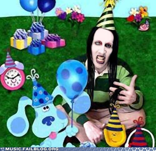 blues clues,children,marilyn manson,television,TV