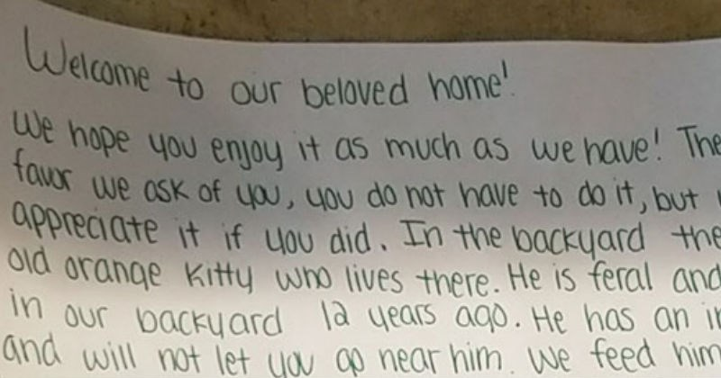 guy moves into new home and finds a note