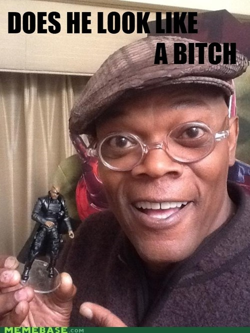 toy Nick Fury awesome Samuel L Jackson - 6185510400