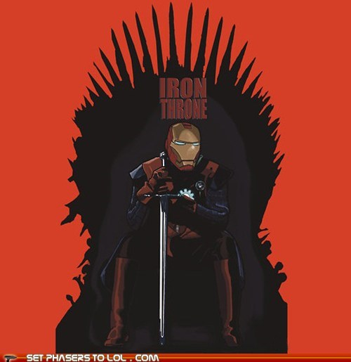 a song of ice and fire Game of Thrones iron man iron throne ned stark tony stark