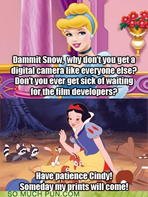 camera,cinderella,digital,double meaning,film,Hall of Fame,homophone,prince,prints,snow white
