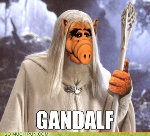 Alf double meaning gandalf literalism Lord of the Rings name suffix