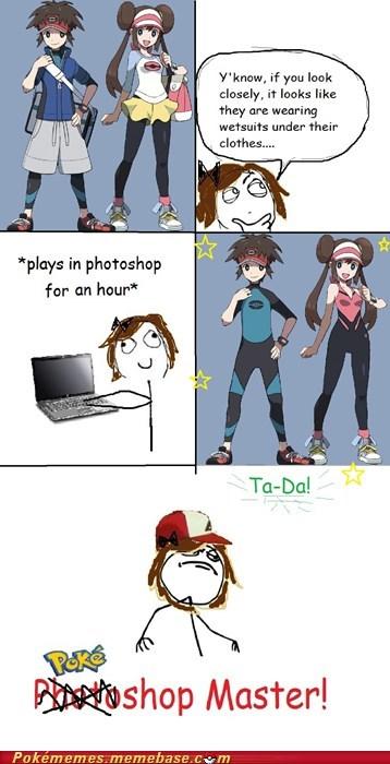 I wanna be the very best,photoshop,pokeshop master,Rage Comics,wetsuits