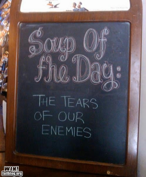 chalk sign restaurant sign soup