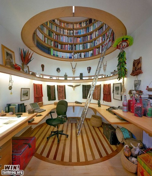 bookshelf design library Office room - 6185799424