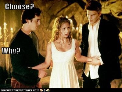 angel Buffy Buffy the Vampire Slayer choose David Boreanaz nicholas brendon Sarah Michelle Gellar why-not-both xander - 6185901312