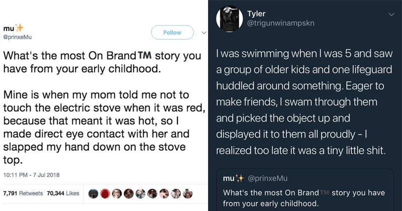 funny childhood Twitter stories