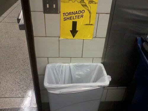 sign tornado shelter trash can - 6186271232