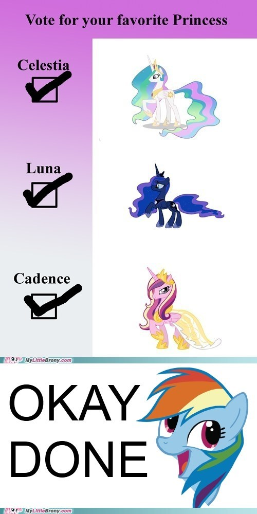 cadance luna ponies princess celestia vote - 6186369792