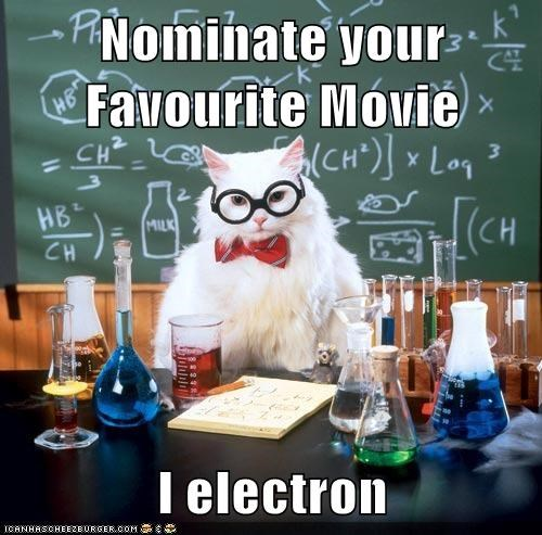 animal meme chemistry cat electron Movie pun reference tron