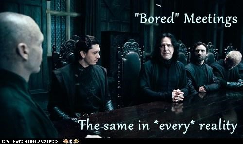 Alan Rickmann board meetings bored boring Harry Potter interesting professor snape ralph fiennes reality same voldemort