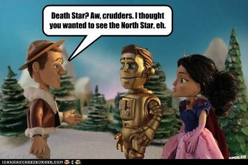 c3p0,canadian,christmas special,claymation,Colin Ferguson,Death Star,eureka,mix up,north star,sheriff jack carter