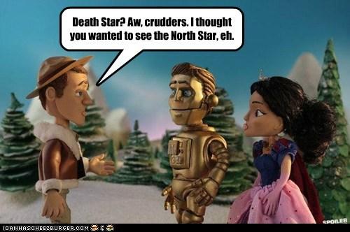c3p0 christmas special claymation Colin Ferguson Death Star eureka mix up sheriff jack carter - 6186533632