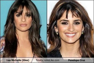 actor celeb funny Lea Michele penelope cruz TLL