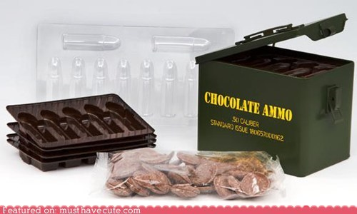ammo,bullets,chocolate,DIY,kit,molds