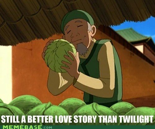 Avatar cabbage last airbender love story Memes twilight - 6186834944
