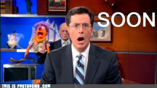 puppet SOON stephen colbert TV tv bomb