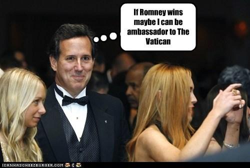 political pictures Rick Santorum the vatican - 6187509760