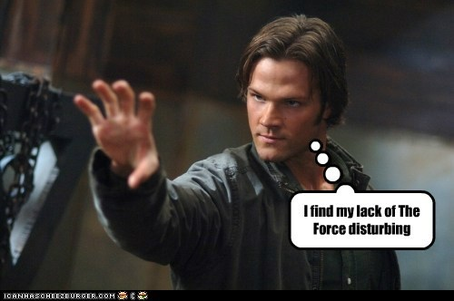 best of the week,disturbing,Jared Padalecki,Jedi,sam winchester,the force