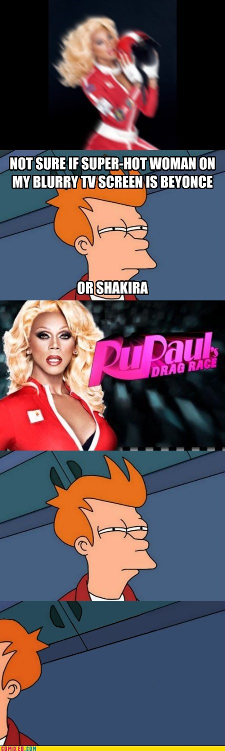 drag queen,fry,gender,not sure if,rupaul,TV