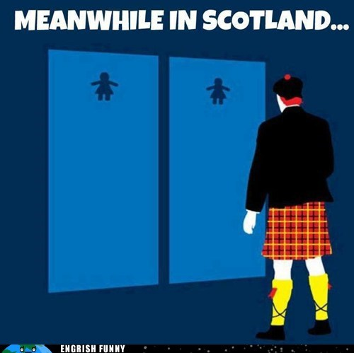 bathroom,Hall of Fame,kilt,restroom,scotland