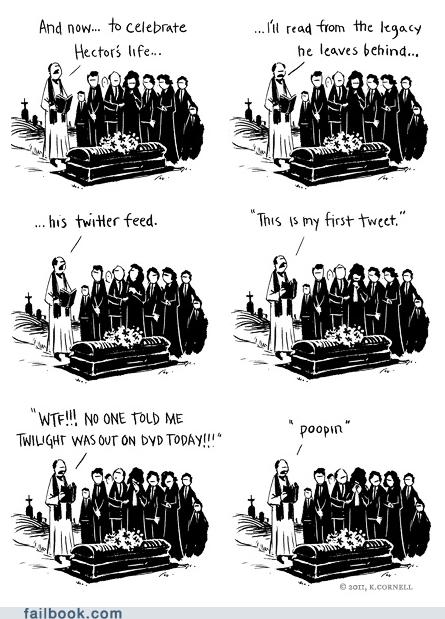 comic funeral life poop pooping tweet twitter - 6187704576