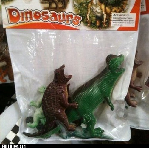 dinosaurs packaging fail toys