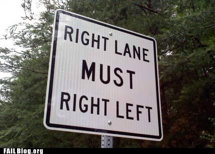 directions driving right lane street sign - 6187910656