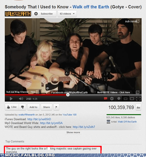 comment gotye somebody that i used to k Walk Off the Earth youtube youtube comments - 6187922432