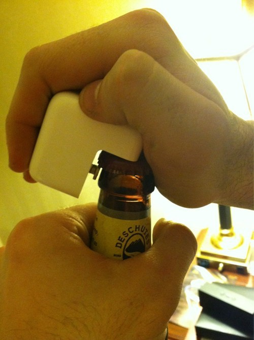 apple,bottle opener,ipad charger