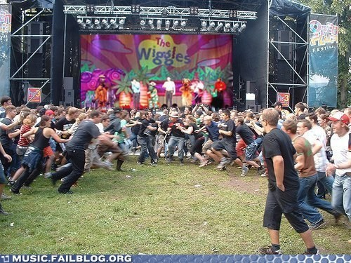 children childrens-music mosh pit pit the wiggles Wiggles